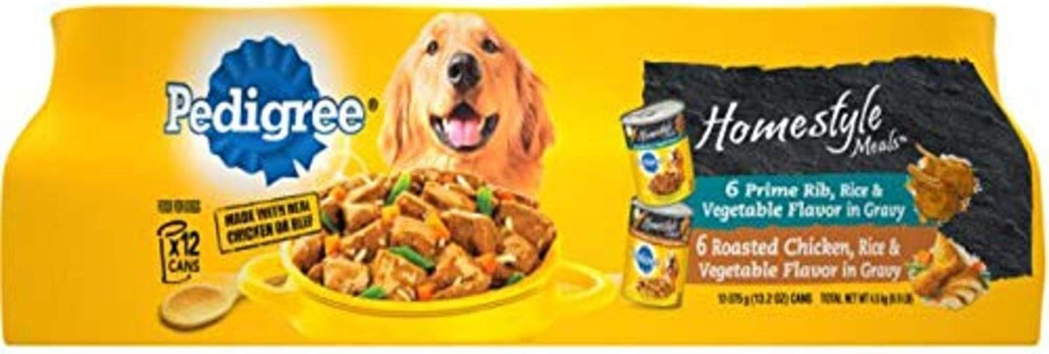 Pedigree Homestyle Meals Adult Wet Dog Food, 13.2 oz Cans