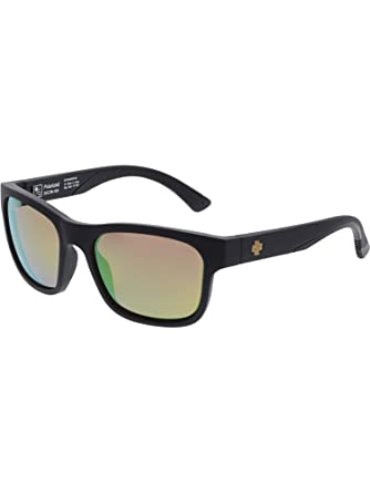 1264fc4f7c SPY Optic Hunt Square Sunglasses (Matte Black Cork E-Jack Happy Rose Polar  w Green Gold Spectra)  Amazon.in  Clothing   Accessories