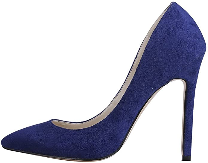 Calaier Damen Caeverybody 10CM Stiletto Schlüpfen Pumps Schuhe, Blau, 37