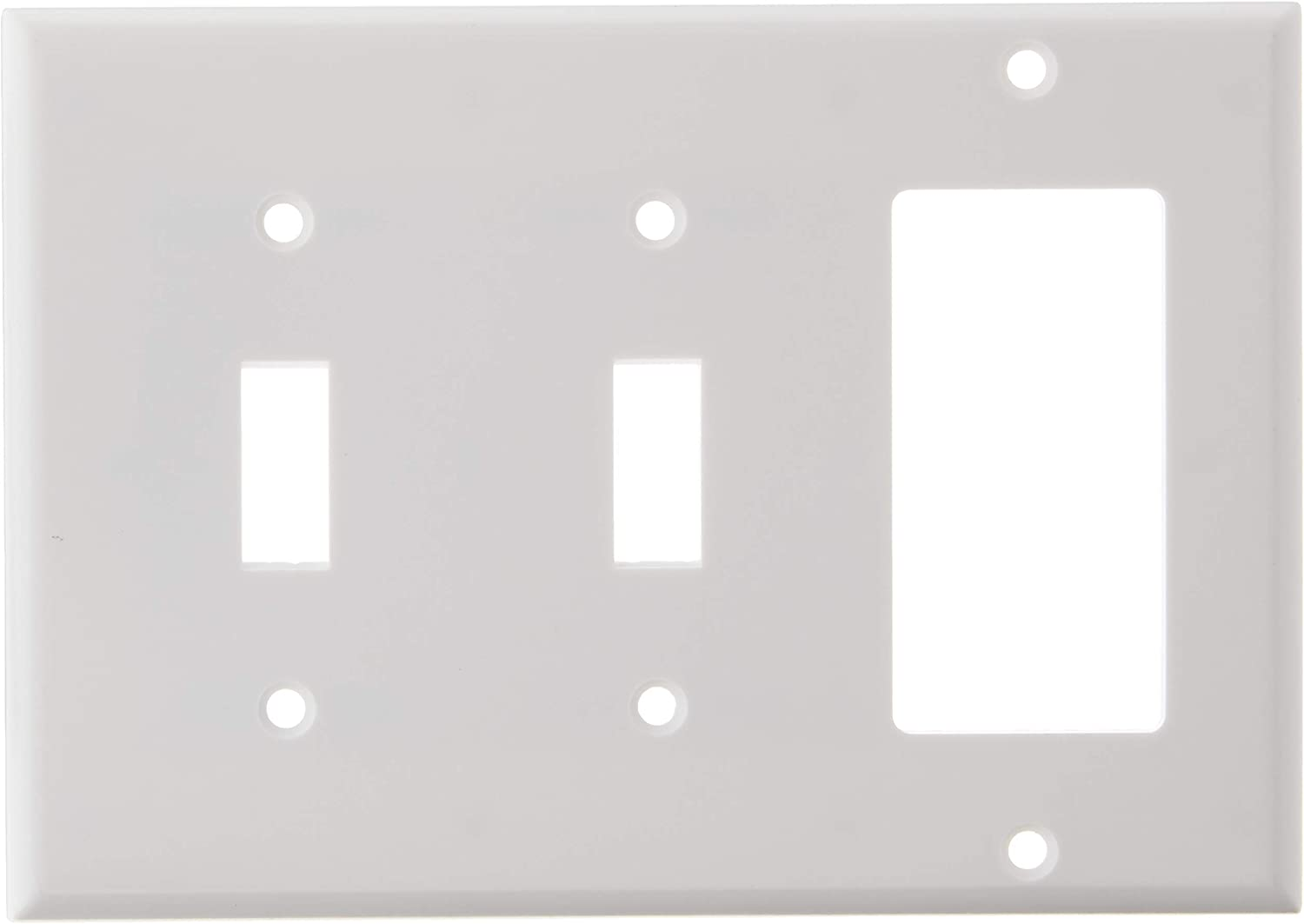 Leviton 80421 W 2 Toggle 1 Decora Gfci Device Combination Wallplate Switch And Outlet Plates
