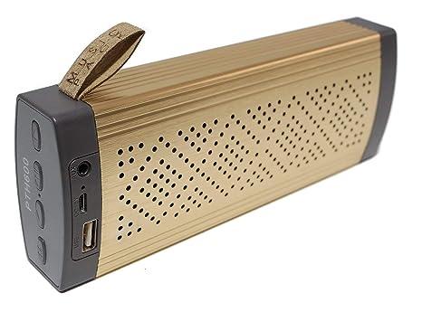 Altavoz Bluetooth Unicview PTH600 Dorado Estéreo Altavoces ...