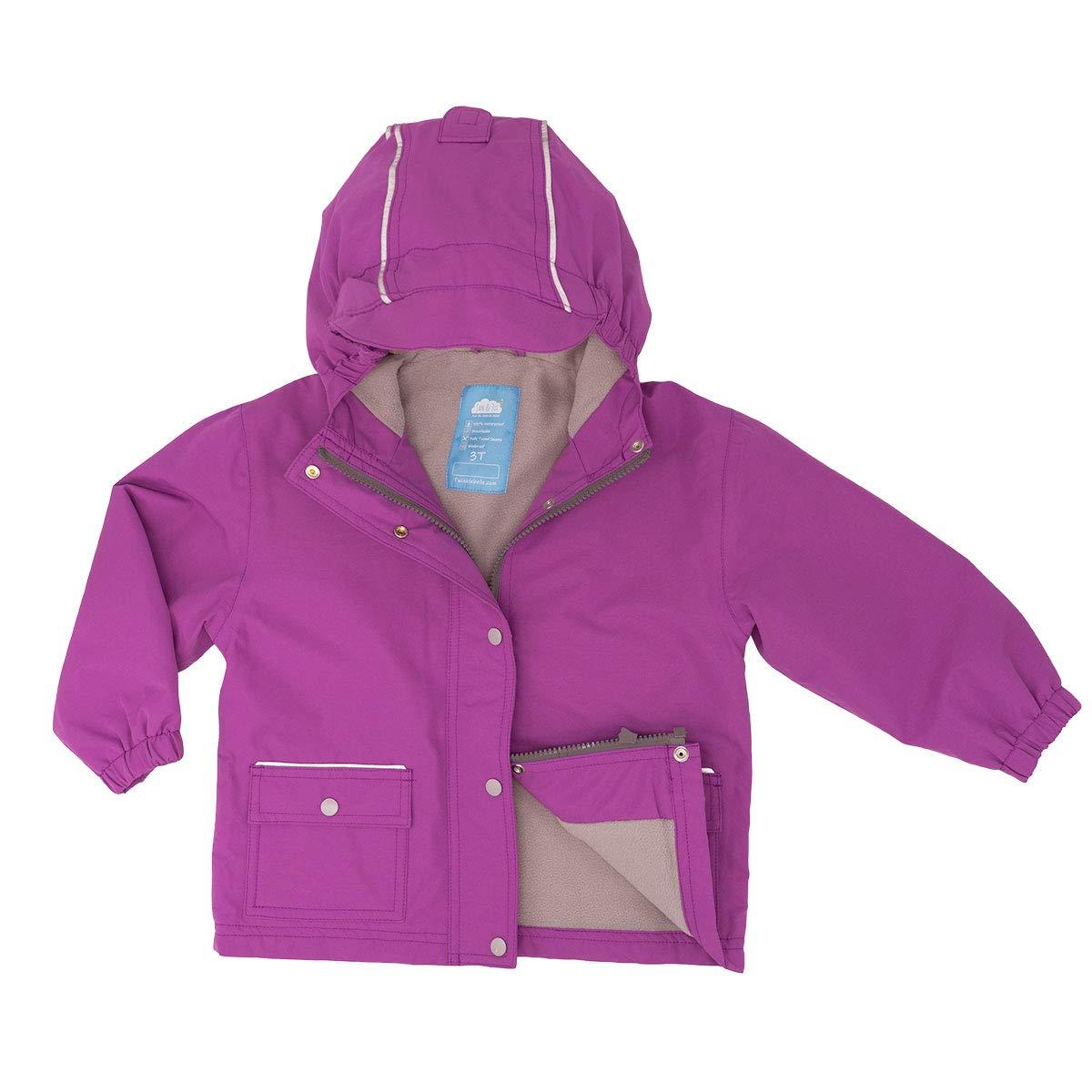 JAN & JUL Kids Waterproof Rain Jacket (Purple, 5T) by JAN & JUL