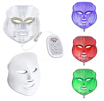 Beautystar LED Photon Therapy Red Blue Green Light Treatment Facial Beauty  Skin Care Phototherapy Mask