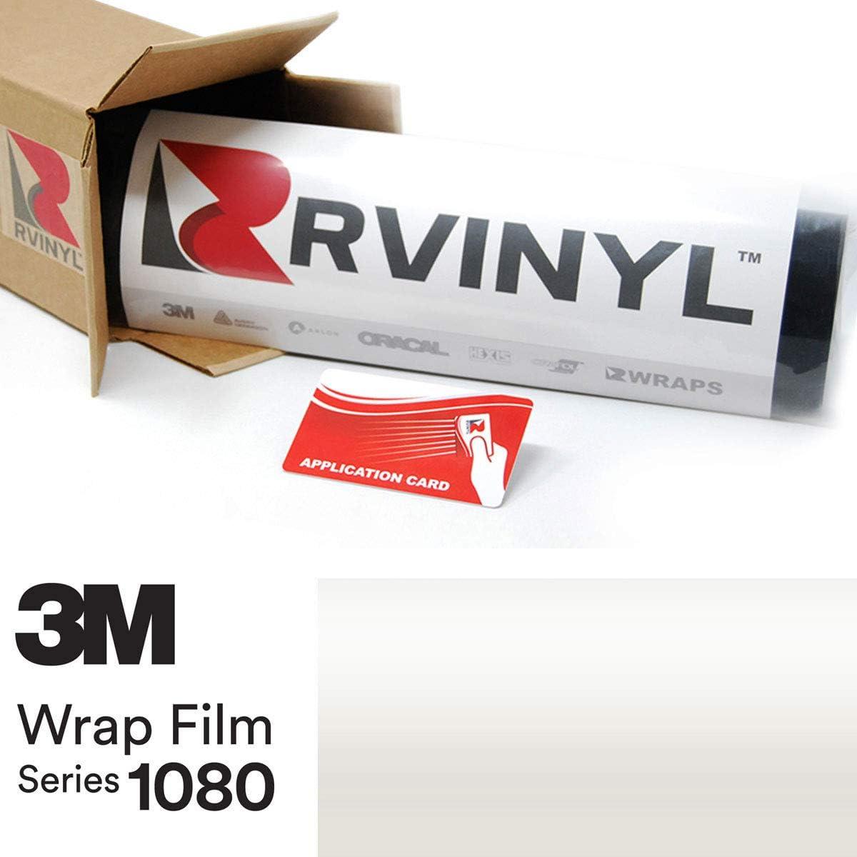 3M 1080 SP10 Satin Pearl White 5ft x 2ft W/Application Card Vinyl Vehicle Car Wrap Film Sheet Roll