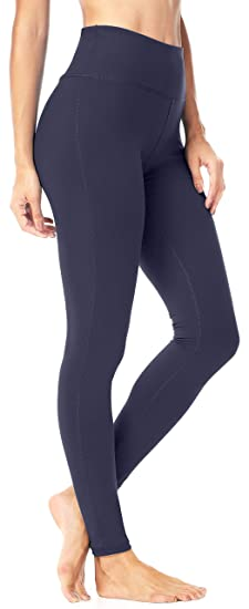 4190c61ced QUEENIEKE Women Power Stretch Leggings Plus Size Medium Waist Yoga Pants  Hidden Pocket Running Tights Size S Color Royal Blue: Amazon.co.uk: Clothing