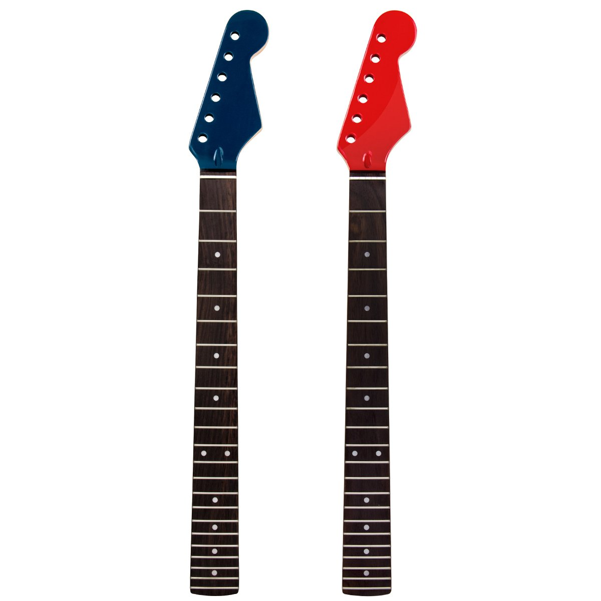 2pcs Electric Guitar Neck Replacement Maple Wood with 22 Fret Rosewood Fretboard 2 Pcs