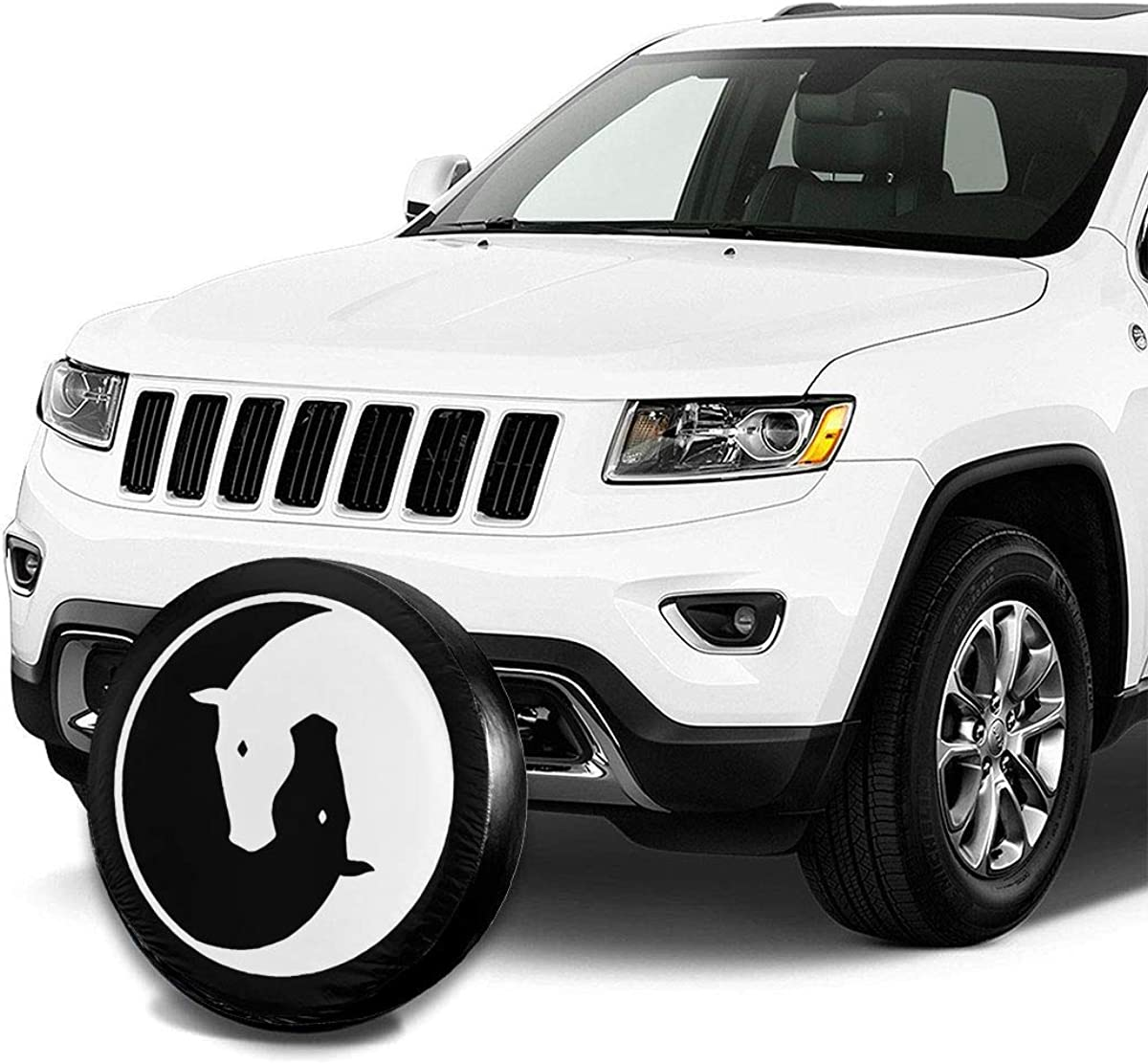 14,15,16,17 Inch Zhung Ree North American Lion Snow Mountain Waterproof Spare Tire Cover Fits for Trailer RV SUV Truck Camper Travel Trailer Accessories