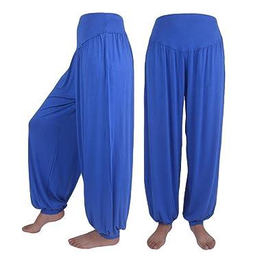 6f51ddb000 2019 Womens Elastic Loose Casual Modal Cotton Soft Yoga Sports Dance Harem  Pants by-NEWONSUN