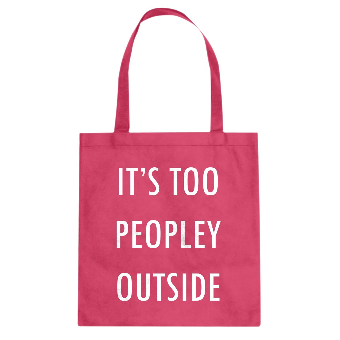 Indica Plateau Too Peopley Outside Cotton Canvas Tote Bag