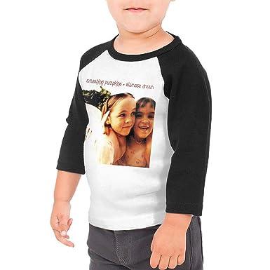455a721a Amazon.com: BowersJ The Smashing Pumpkins Siamese Dream Kids 3/4 Sleeve  Raglan Baseball T Shirt for Girls & Boys Black: Clothing