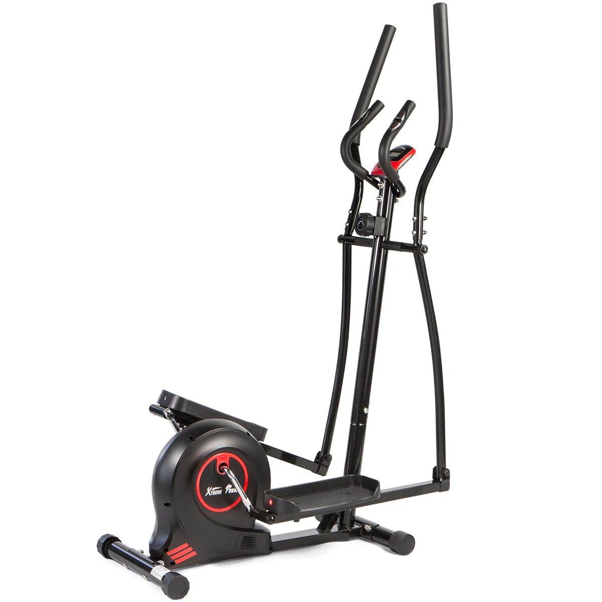 XtremepowerUS Magnetic Elliptical Fitness Training Machine Cardio Workout Trainer