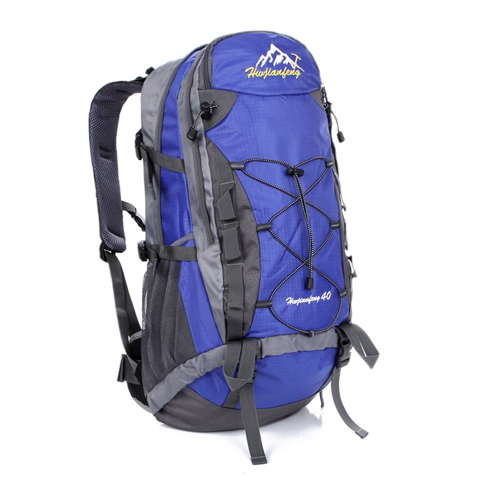 AHWZ 40L ハイキングバックパック スポーツバックパック 防水 通気性 多機能 レジャー キャンプ バックパック 最高 B07HRYK2V7 ブルー