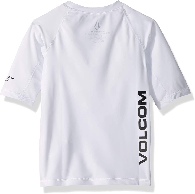 Volcom Boys Big Lido Solid Short Sleeve Rashguard