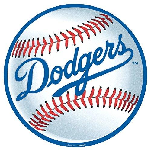 Amscan Los Angeles Dodgers Major League Baseball Collection Cutout, Party Decoration, 6 Ct.