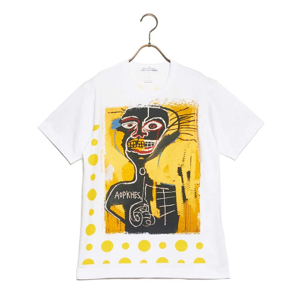 【激安】 (コムデギャルソン) B07MT9T8FM COMME des GARCONS Tシャツ SHITRT COTTON COTTON JERSEY WITH プリンティング DIGITAL PRINTING BASQUIAT デジタル プリンティング バスキア w26102 メンズ 2019SS WHITE×PRINT C S [並行輸入品] B07MT9T8FM, 生活応援ショップ ふわふわ:54664ed1 --- brp.inlineteambrugge.be