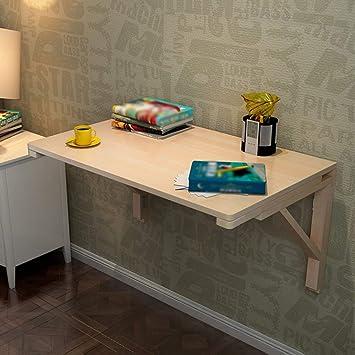 TXX Mesa de estudio plegable simple Mesa de comedor de madera ...