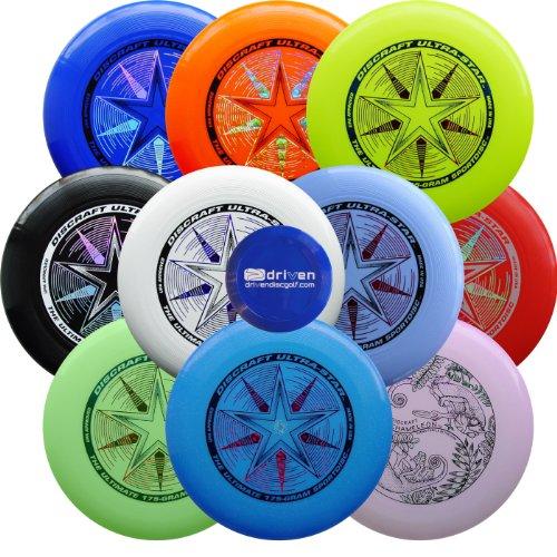 Ultimate Bundle - 10 Discraft Ultra Star Ultimate Sport Discs + Mini Disc by Driven Ultimate Discs