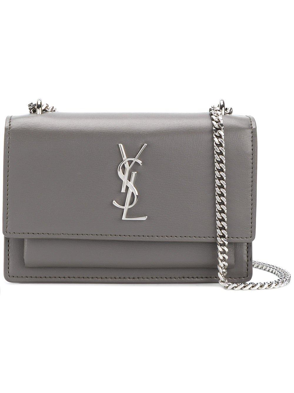 7a557a489e Amazon.com: Saint Laurent Women's 452157D422n2034 Grey Leather Shoulder Bag:  Clothing