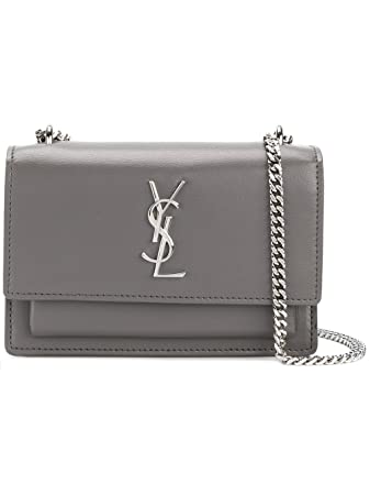 Amazon.com  Saint Laurent Women s 452157D422n2034 Grey Leather ... 01f34dc34b453