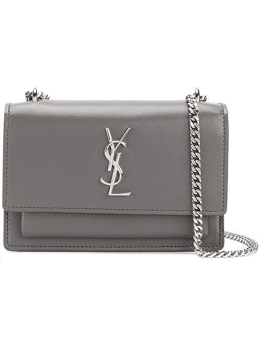 bb6c7dd52b Saint Laurent Women's 452157D422n2034 Grey Leather Shoulder Bag