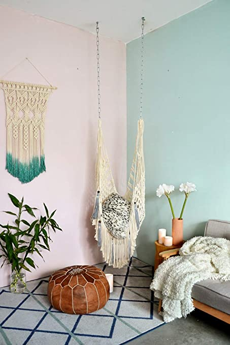 Amazon.com: Hiplus Handmade Boho Large Macrame Net Swing ...