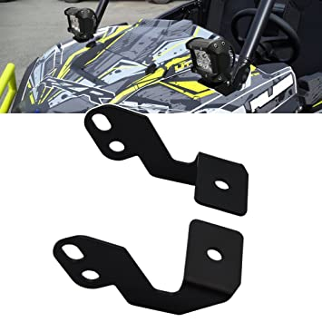 Front A-Pillar Roll Bar LED Light Pods Mounting Brackets For Polaris RZR XP  1000 2014-2019 & RZR 900 2015-2019