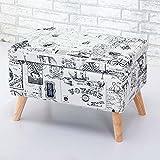 HOMEE Nordic retro hall creative change shoe stool storage stool storage stool clothing shop sofa stool shoes cloakroom sofa stool (multiple colors available),19