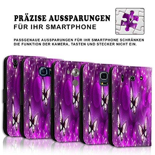 Wallet Book Style Flip Handy Tasche Case Schutz Hülle Schale Motiv Etui für Apple iPhone 4 / 4S - Design Flip MVD367