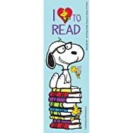 Eureka Peanuts ''I Love to Read'' Snoopy Bookmarks for Kids, 36 Ct, 2'' x 6''