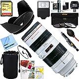 Canon (2569A004) EF 70-200mm F/2.8L USM Lens + 64GB Ultimate Filter & Flash Photography Bundle