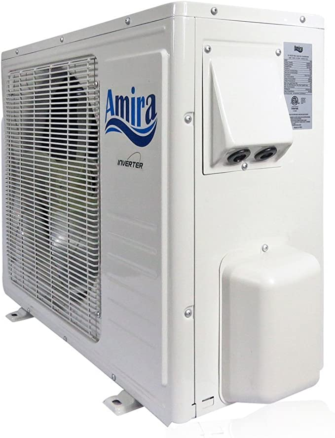 1.8-2 Ton Ductless System with Inverter and Heat Pump Complete Set with 15 Feet kit Amira 22000 BTU Mini Split Air Conditioner 208-230 VAC