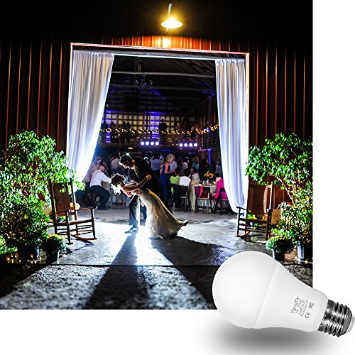 Sensor Lights Bulb Dusk to Dawn LED Light Bulbs Smart Lighting Lamp 7W E26/E27 Automatic On/Off, Indoor/Outdoor Yard Porch Patio Garage Garden (Warm White, 2 Pack) by Vgogfly (Image #7)