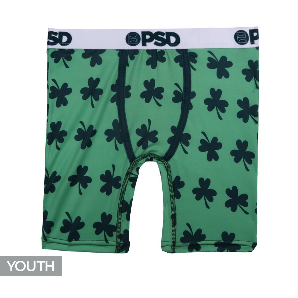 PSD Underwear Youth Youth Lucky Athletic Boxer Brief Green