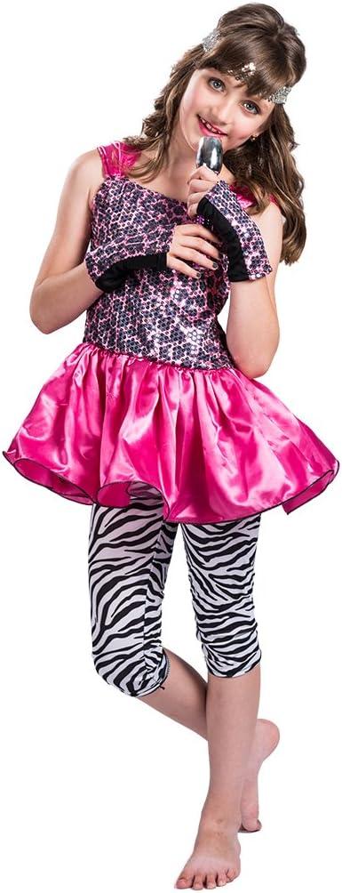 EraSpooky Disfraz Vestido de Estrella del rock del pop de los años ...
