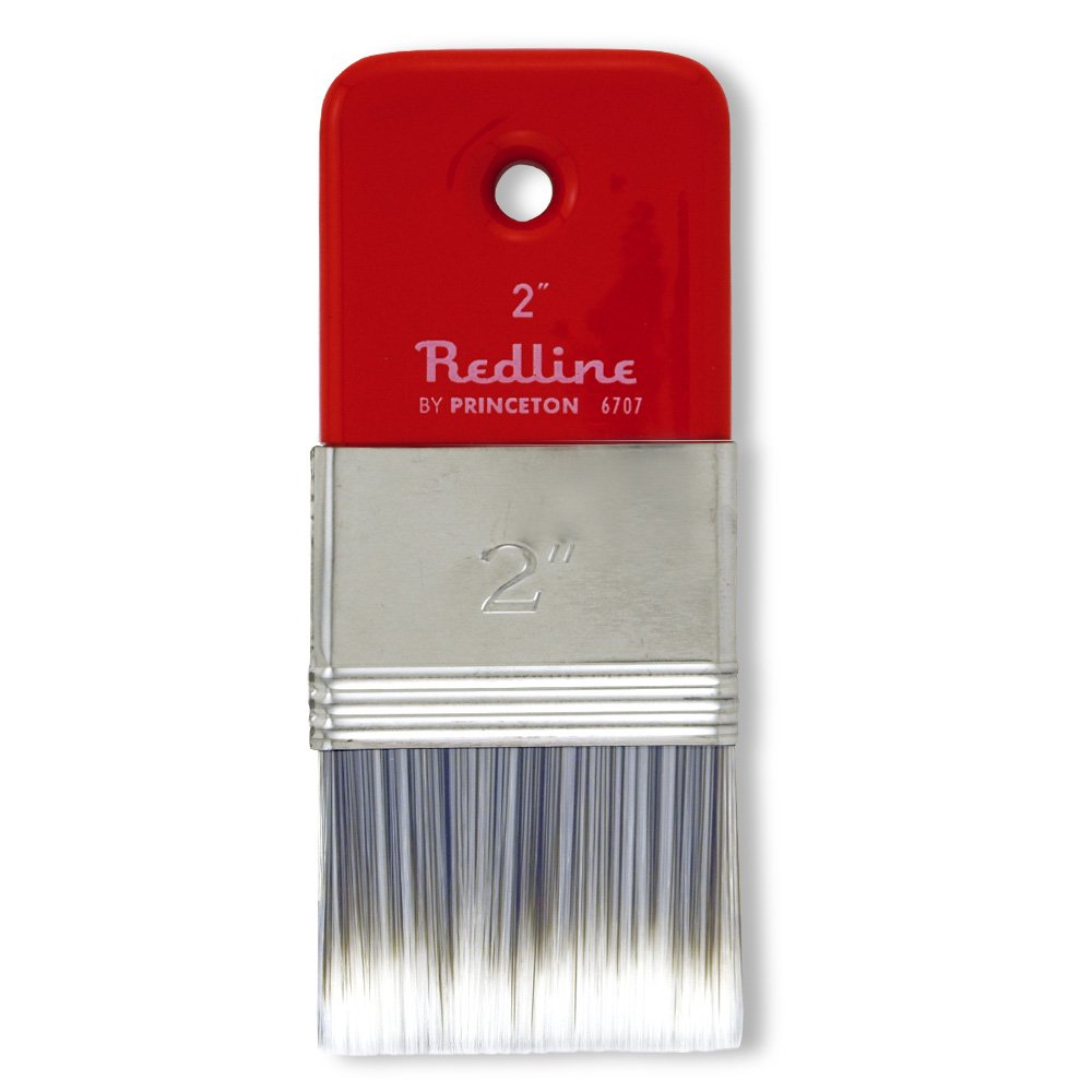 Princeton Artist Brush Redline, Brushes for Acrylic and Oil Series 6700, Flat Synthetic Blend Paddle, Size 2 by Princeton Artist Brush