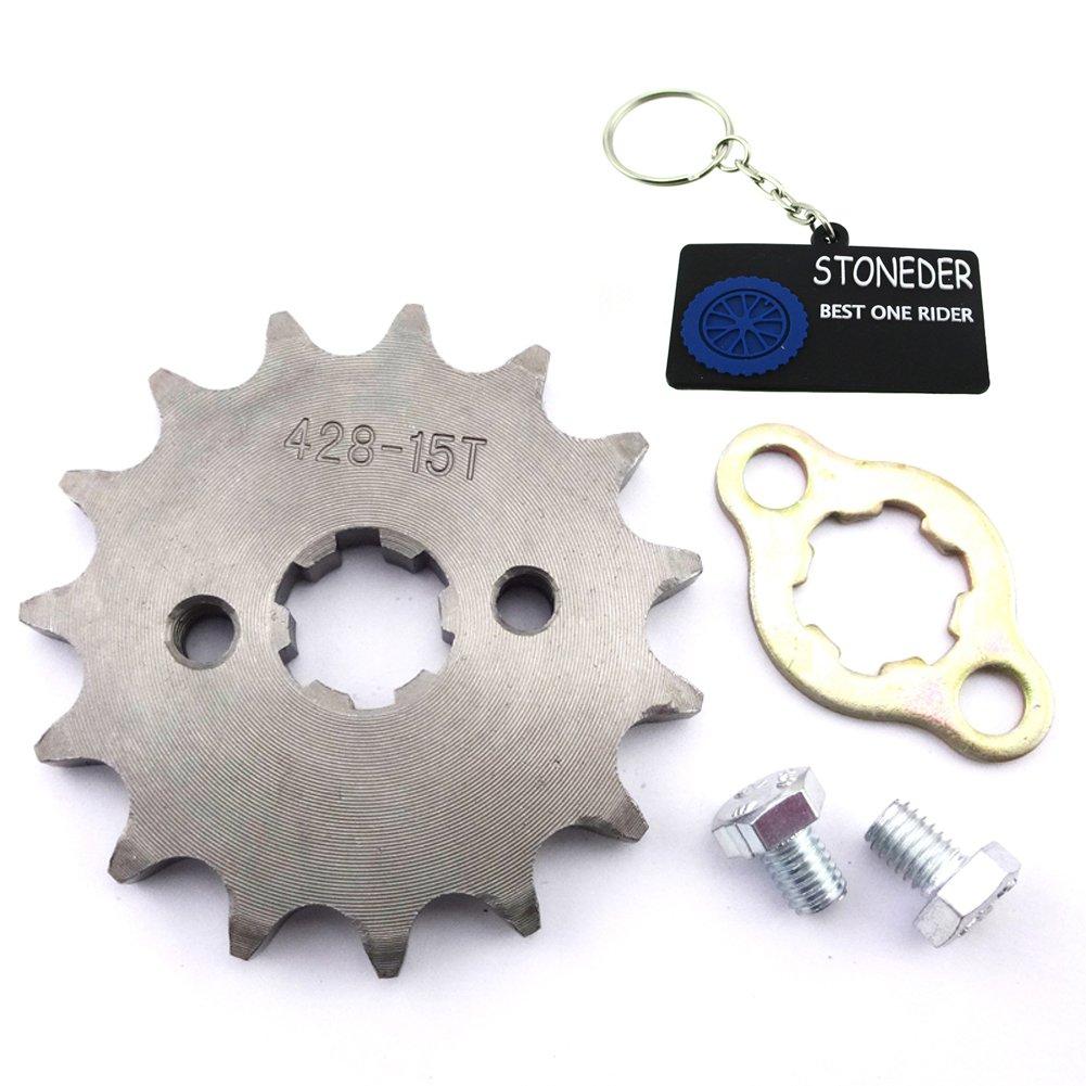 stoneder 428 15 dientes 17 mm frontal cadena piñ ó n Gear para 50 cc 70 cc 90 cc 110 cc 125 cc 140 cc 150 cc 160 cc motor ATV Quad Pit Suciedad Trail para bicicleta