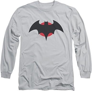 Batman Thomas Wayne hombre plateado camiseta de manga larga: Amazon.es: Ropa y accesorios