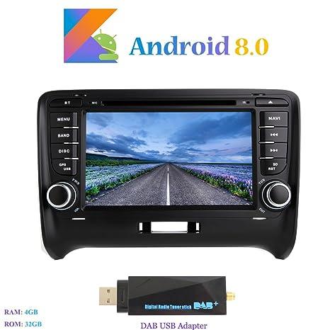 """Android 8.0 Autoradio, Hi-azul 2 DIN 7"""" Radio de Coche 8-"""