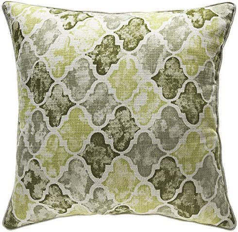 14Karat Home Moroccan Throw Pillow, Moss Sage Olive, 24 L x 24 W