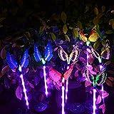 3pcs 5LED Garden Solar Lights, Butterfly Solar
