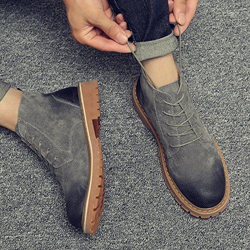 HL-PYL - Retro Martin Stiefel und Stiefel für Martin Schuhe und Stiefel 40 Grau