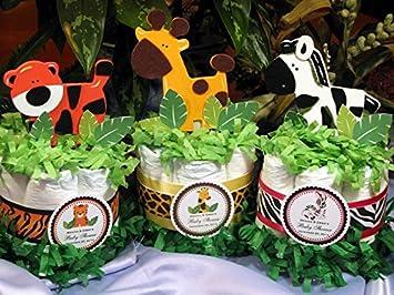 Amazon Com Wild Jungle Safari Mini Diaper Cakes Handmade By Lmk