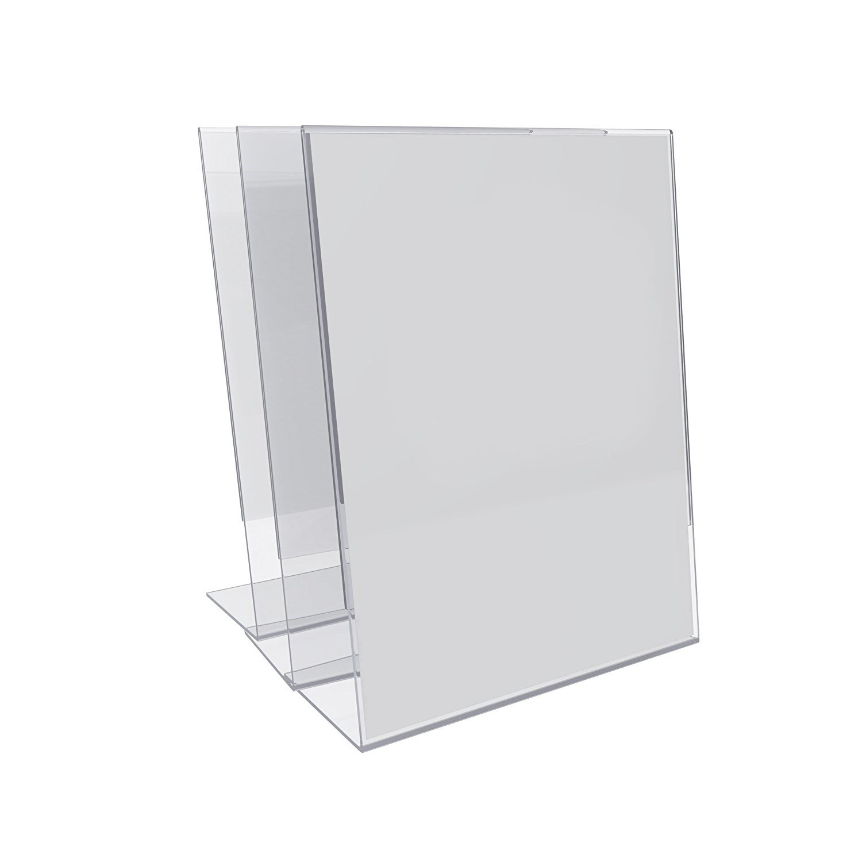 Marketing Holders Slant Back Advertisement Frame Menu Display Signage Impact Resistant 8.5''w x 11''h 1 Pack of 3