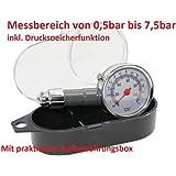 Metall Reifendruckprüfer Manometer Luftdruckmesser für Motorrad, LKW, PKW