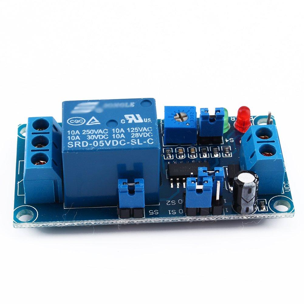 5 V 5 V DC retardo de rel/é con temporizador encendido//retraso interruptor de apagado