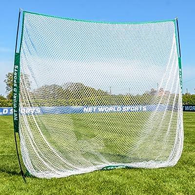 Portable Sports Hitting Net 7ft x 7ft - Backyard & Outdoor Practice Screen For Baseball, Lacrosse, Soccer, Golf [Net World Sports]