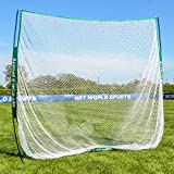 Portable Sports Hitting Net 7ft x 7ft - Backyard & Outdoor Practice Screen For Baseball, Lacrosse, Soccer, Golf [Net World Sports]