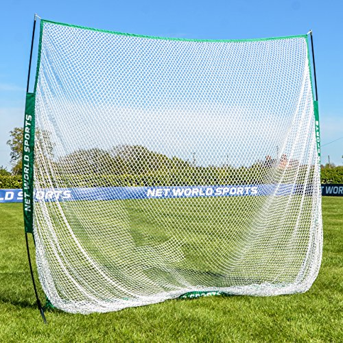 Portable Sports Hitting Net 7ft x 7ft – Backyard & Outdoor Practice Screen For Baseball, Lacrosse, Soccer, Golf [Net World Sports]
