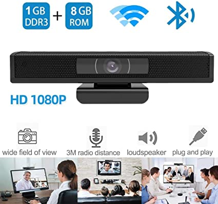 Dnyker 1080P HD Webcam,TV Box with Camear, Android 6.0 Smart TV Box,Wide View Angle, Built-in Microphone for Video Calling Recording Conferencing: Amazon.es: Electrónica