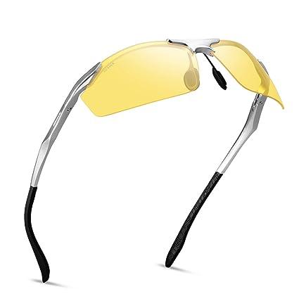 87f708308d SOXICK Men s HD Polarized Night Driving Glasses Anti Glare Safety Glasses  Professional HD Night Vision Glasses